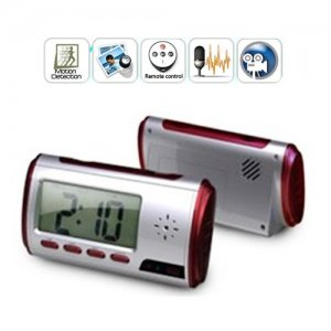 New Red Clock Camera with Video Photo Motion Detection and Remote Control